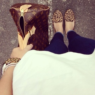 shoes leopard print leopard loafers loafers bag