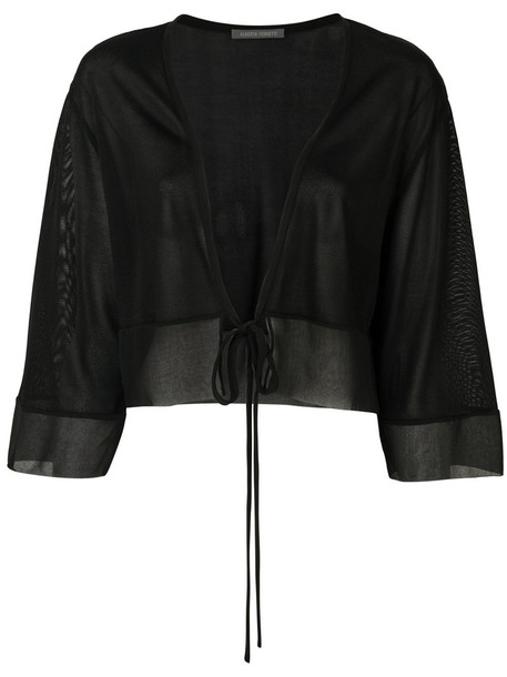 Alberta Ferretti cardigan cardigan cropped women black silk sweater