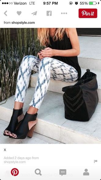 jeans shoes printed pants