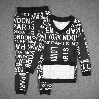 top pajamas fashion quote on it sporty fall outfits black and white black musheng