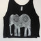 Womens paisley elephant flowy boxy crop tank bella canvas s m l xl pink or black