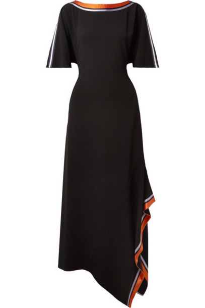 Diane Von Furstenberg dress midi dress midi black satin