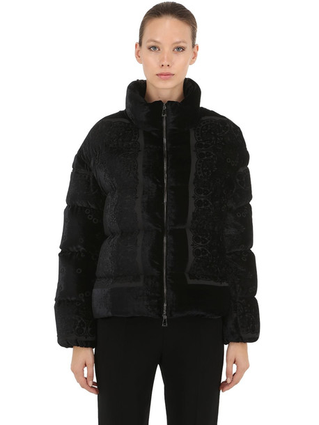 MONCLER Labbe Nylon Down Jacket in black