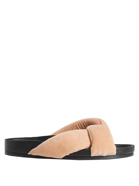 Chloe velvet light pink light pink shoes