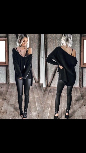sweater black sweater loose fit sweater