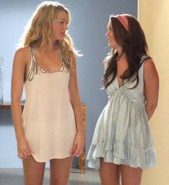 dress serena van der woodsen blake lively leighton meester blair waldorf gossip girl blouse hair accessory top jewels