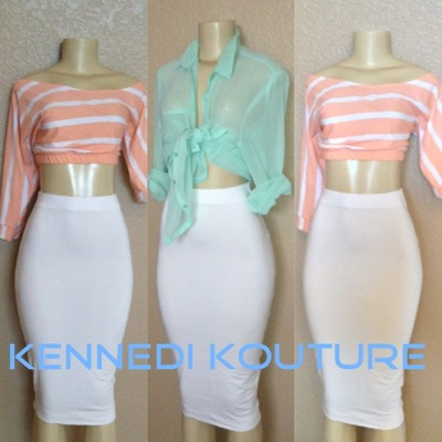 SUMMER WHITE SEXY HIGH WAIST MIDI PENCIL SKIRT · KENNEDI KOUTURE · Online Store Powered by Storenvy