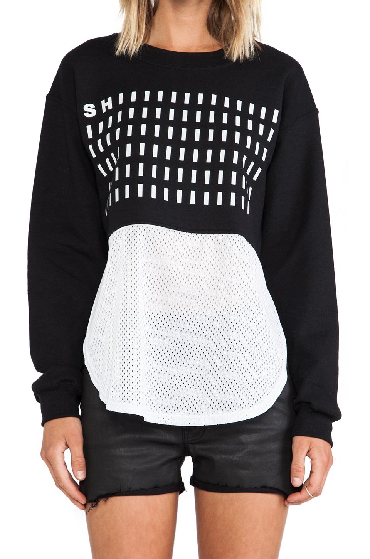 Dimepiece SHIIIT Mesh Sweatshirt in Black from REVOLVEclothing.com