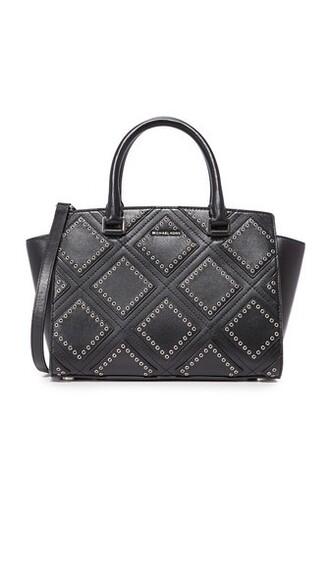 satchel zip black bag