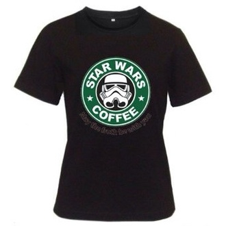 shirt starbucks coffee star wars