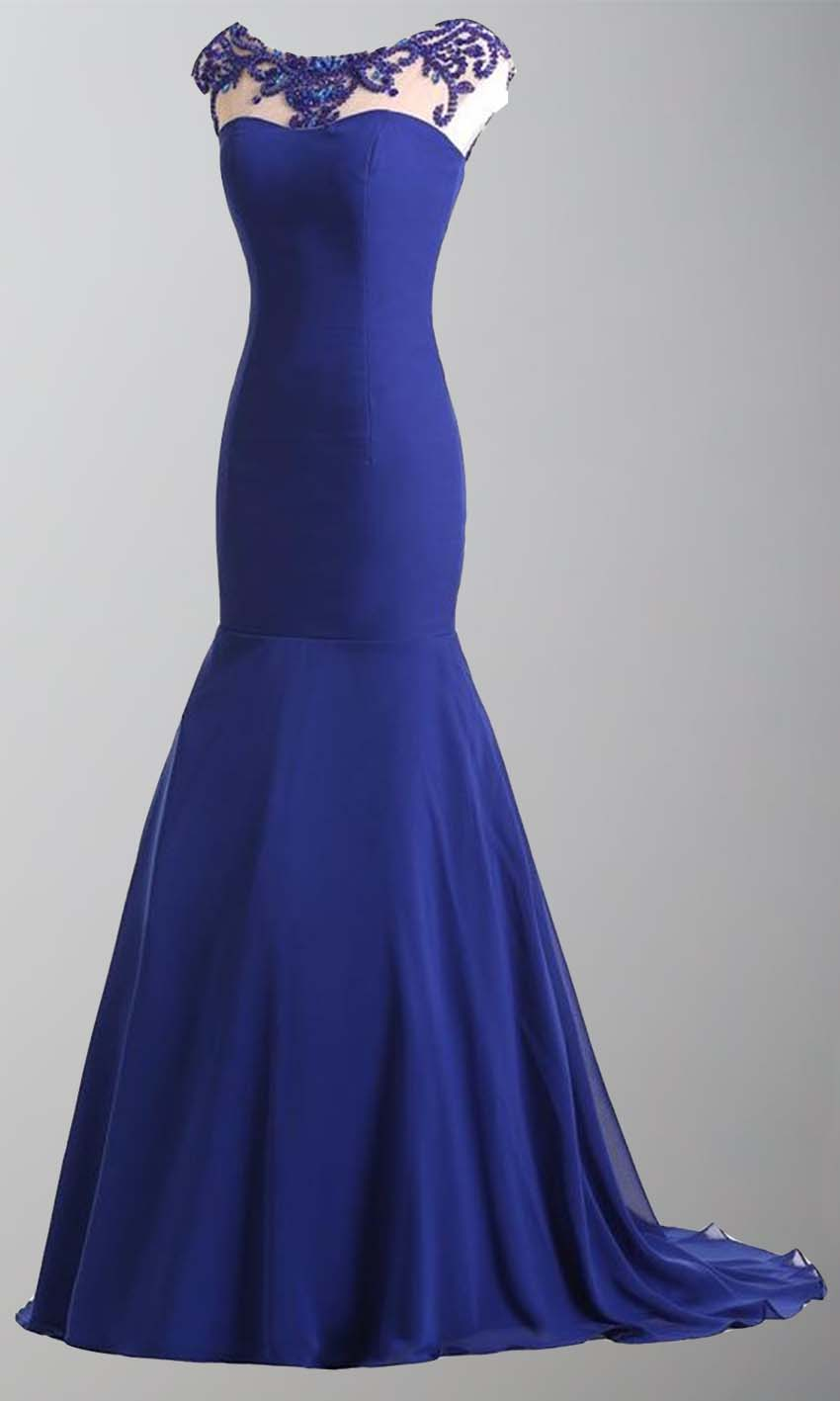 Blue Jeweled High Illusion Mermaid Long Formal Dresses KSP400 [KSP400] - £99.00 : Cheap Prom Dresses Uk, Bridesmaid Dresses, 2014 Prom & Evening Dresses, Look for cheap elegant prom dresses 2014, cocktail gowns, or dresses for special occasions? kissprom.co.uk offers various bridesmaid dresses, evening dress, free shipping to UK etc.