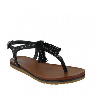 shoes mia shoes sandals studs tassel thong sandals bikiniluxe
