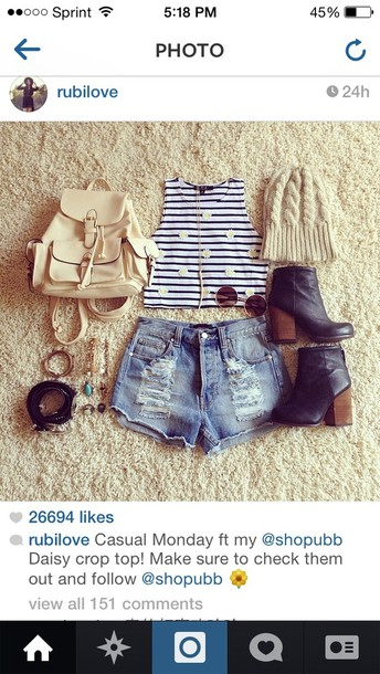 bag hat jewels sunglasses shoes shorts