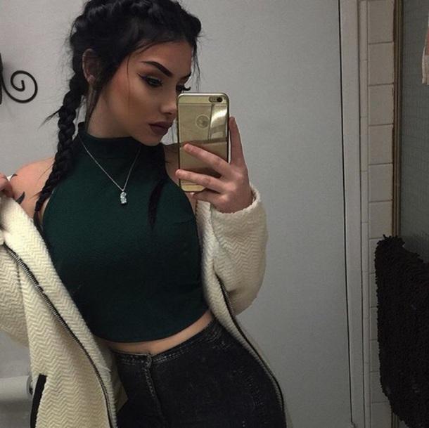 jacket sweater overalls