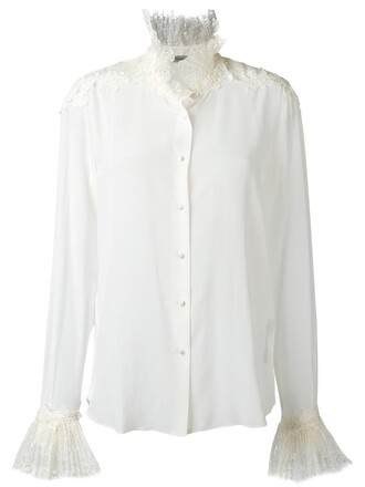 shirt women nude silk top