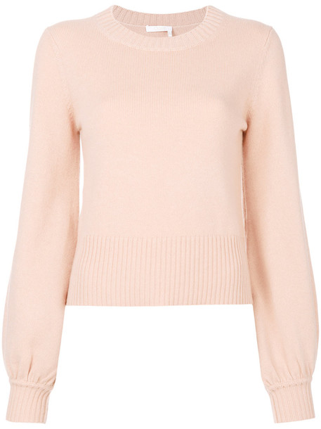 pullover women nude cotton sweater
