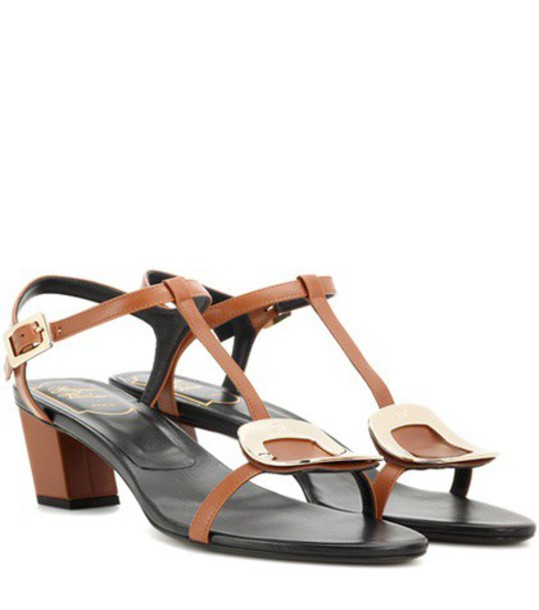 Roger Vivier sandals leather sandals leather brown shoes