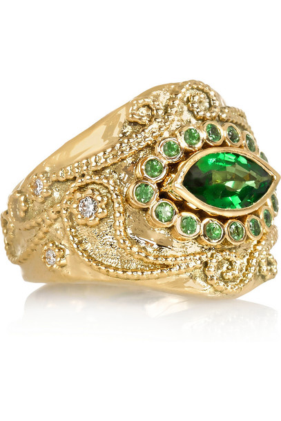 Aurélie Bidermann Fine Jewelry stone ring ring gold jewels