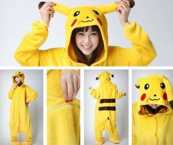 Amazon.com: Pokemon Pikachu Pajamas Costume Cosplay Without Shoes: Clothing
