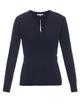 blouse navy top