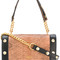 Moschino - square studded shoulder bag - women - leather/metal - one size, black, leather/metal