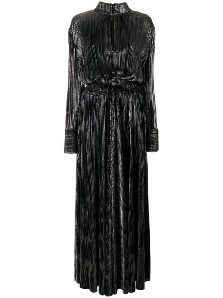 Pierre Balmain gown metallic women black dress