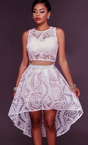 dress,lace dress,lace skirt,lace crop top,lace crop tank top,white,sheer,white mesh,white sheer,white lace,white lace dress,mini dress,short dress,asymmetrical dress,a line,a line skirt,a line dress,sleeveless,embroidered,summer,summer dress,club dress,clubwear,beach,sexy,sexy dress,sexy party dresses,party,party dress,skater,skater dress,skater skirt,fashiion coolture,fashion inspo,tumblr outfit,moraki,asymmetrical,asymmetrical skirt,sleeveless dress,beach dress,all white everything,see through,see through dress,fashion