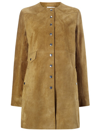 jacket tan suede brown