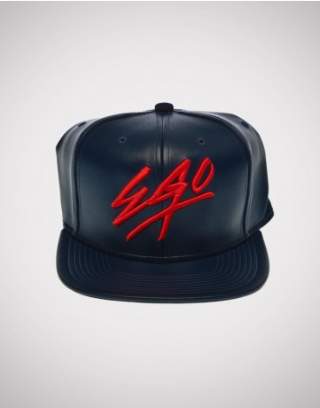 Fresh Ego Kid | EGO Leather Snapback Navy - Hats