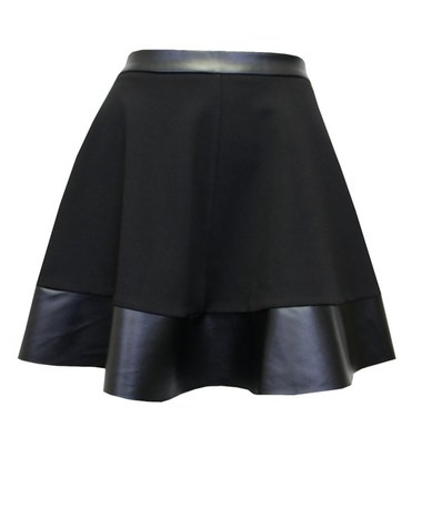Date Night Leather Skater Skirt - JuJu's Closet