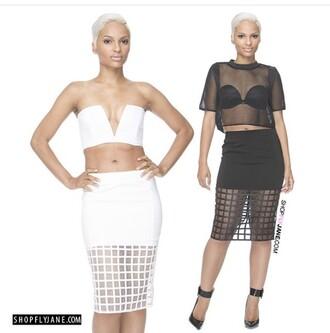 skirt grid skirt knee length skirt pencil skirt white skirt all white everything all white party