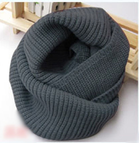 Women Winter Knitted Long Circle Wool Blend Cowl Snood Tube Scarf Shawl Warmer | eBay