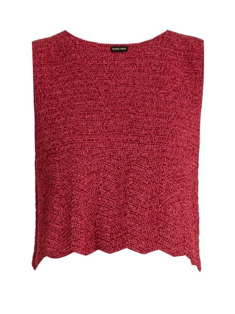 Rachel Comey top crochet top crochet pink