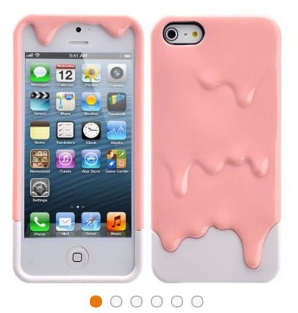 phone cover pink goo with white back for  iphone 5x