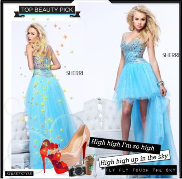 dress 2014 sherri hill 21168 light blue party dress