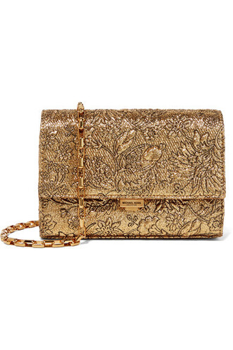 metallic bag shoulder bag gold