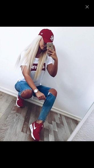 shorts nike air nike shoes nike air max 90 burgundy shoes weheartit t-shirt