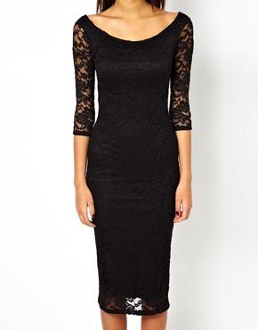 ASOS | ASOS Bardot Lace Midi Dress at ASOS