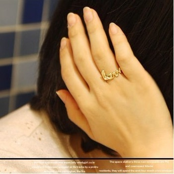 Min order $10,W230 Fashionable Korean version of Ms. Ring finger ring jewelry wholesale trade jewelry retro LOVE-in Rings from Jewelry on Aliexpress.com