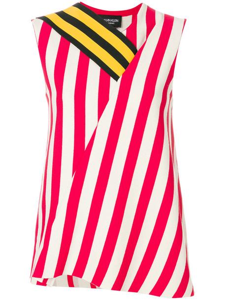 CALVIN KLEIN 205W39NYC top striped top women white cotton