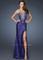 La femme 18456 purple evening gown