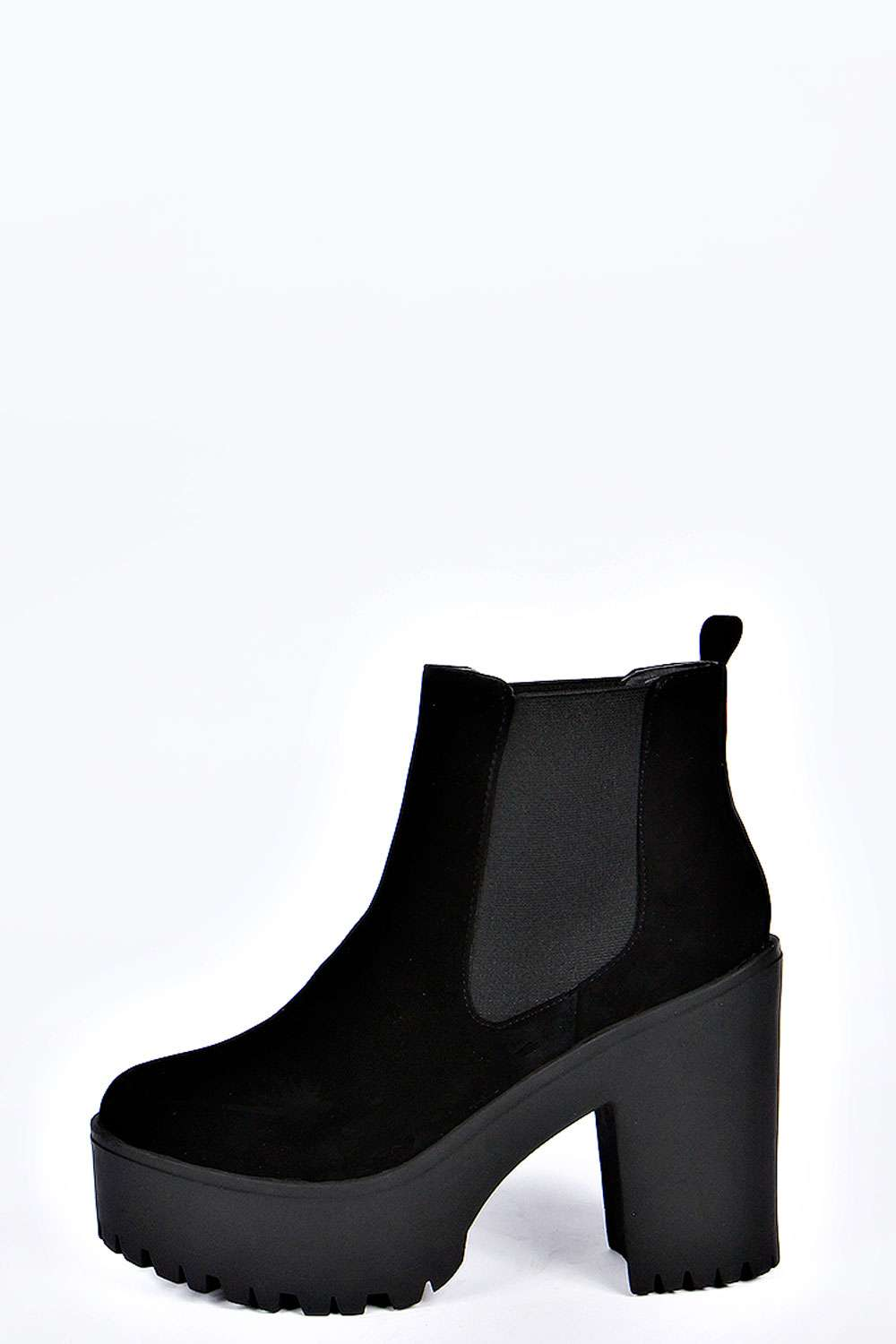 Kelly cleated deep elastic gusset pull on boot