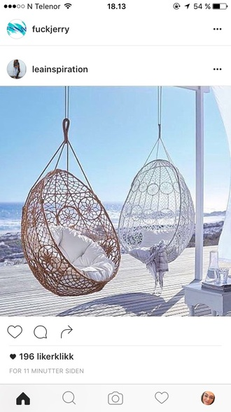 home accessory white brown chair hanging chair dreamcatcher melati knotted