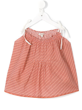 blouse girl toddler yellow orange top