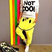 sweater,leggings,pants,yellow,sweatpants,yellow pants
