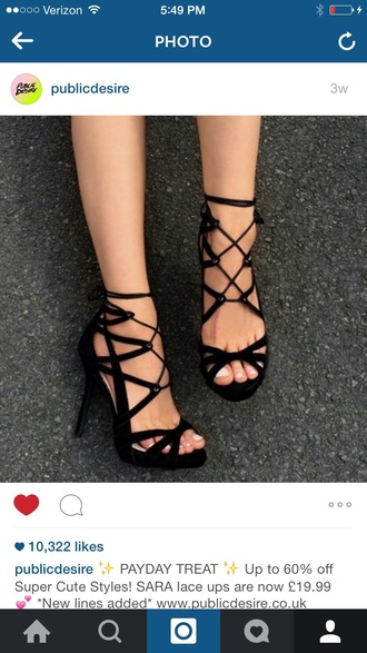 shoes black heels heels sexy lace up summer clubwear classy