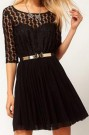 ROMWE | Romwe Double-layered Hollowed Black Dress, The Latest Street Fashion