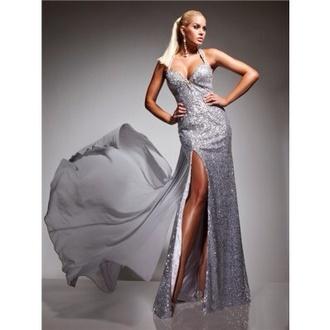 fashion dress backless prom dress backless dress prom sequins silver dress sequin dress silver silver prom