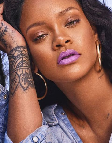 make-up rihanna earrings instagram lipstick lip gloss lips lip balm