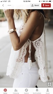 shirt,boho hippie lace white summer